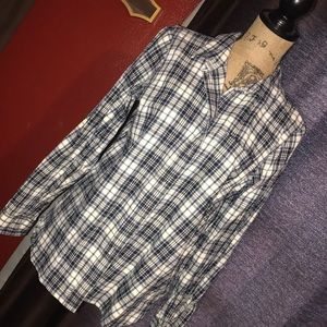 Madewell long sleeve plaid flannel button up